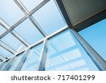 transparent glass roof of a... | Shutterstock . vector #717401299