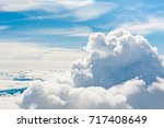 aerial view  above the large... | Shutterstock . vector #717408649