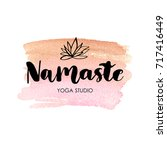 logo for yoga studio or... | Shutterstock .eps vector #717416449