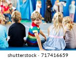 children watching theater or... | Shutterstock . vector #717416659