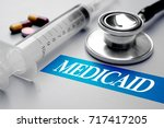 medicaid  health concept.... | Shutterstock . vector #717417205