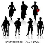 Silhouettes Of The Actors In...