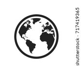 globe world map vector icon.... | Shutterstock .eps vector #717419365