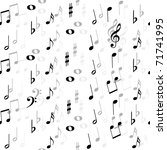 music notes  seamless | Shutterstock .eps vector #71741995