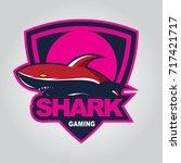 modern professional shark logo... | Shutterstock .eps vector #717421717