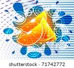 orange background | Shutterstock .eps vector #71742772