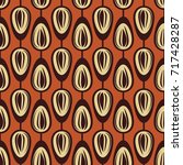 abstract retro pattern with... | Shutterstock .eps vector #717428287