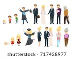 stages of life. man and woman... | Shutterstock .eps vector #717428977