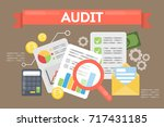 audit concept illustration.... | Shutterstock .eps vector #717431185