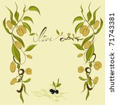 background with olive's branches | Shutterstock .eps vector #71743381