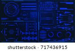 hud futuristic element user... | Shutterstock .eps vector #717436915