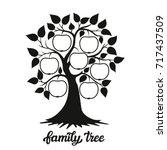 family tree. apple tree... | Shutterstock .eps vector #717437509