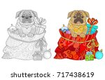 Dog Pug And New Year's Gifts I...