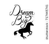 unicorn silhouette with text... | Shutterstock .eps vector #717445741
