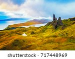 old man of storr rock... | Shutterstock . vector #717448969
