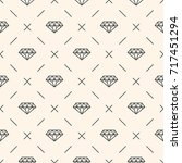seamless pattern with diamonds... | Shutterstock . vector #717451294