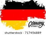 germany happy unity day ... | Shutterstock .eps vector #717456889