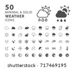 set of 50 minimal and solid... | Shutterstock .eps vector #717469195