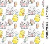 Seamless Pattern   Easter Eggs...