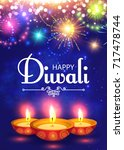 happy diwali. traditional... | Shutterstock .eps vector #717478744