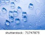 ice cubes   aqua | Shutterstock . vector #71747875