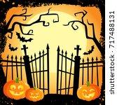 halloween banner  poster ...   Shutterstock .eps vector #717488131