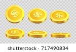 golden coins dollar cent in... | Shutterstock .eps vector #717490834