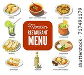 mexican food cuisine vector...   Shutterstock .eps vector #717491179