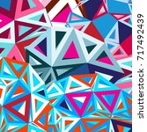 bright colorful the geometric... | Shutterstock .eps vector #717492439