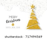 merry christmas and happy new... | Shutterstock .eps vector #717494569