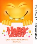 happy birthday card template... | Shutterstock .eps vector #717496711