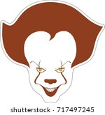 clown sticker | Shutterstock .eps vector #717497245