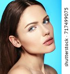 glamor closeup beauty portrait... | Shutterstock . vector #717499075