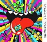 lsd psychedelic illustration ...   Shutterstock .eps vector #717499564