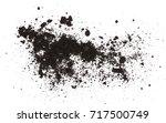 dark dirt pile isolated on... | Shutterstock . vector #717500749