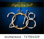 2018 happy new year background... | Shutterstock . vector #717501529