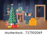 interior of comfy living room... | Shutterstock .eps vector #717502069