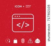 code editor icon | Shutterstock .eps vector #717502105