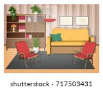 interior of living room... | Shutterstock .eps vector #717503431