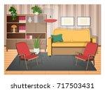 interior of living room... | Shutterstock .eps vector #717503431
