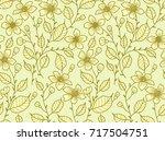 vector seamless pattern. floral ... | Shutterstock .eps vector #717504751