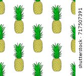 seamless pattern with a... | Shutterstock .eps vector #717507391