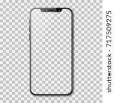 black phone mock up with blank...   Shutterstock .eps vector #717509275
