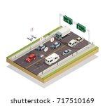 smart city infrastructure... | Shutterstock .eps vector #717510169