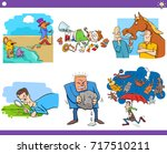 illustration set of humorous... | Shutterstock .eps vector #717510211