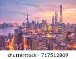 view of downtown shanghai... | Shutterstock . vector #717512809