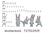 sprite sheet of cartoon... | Shutterstock .eps vector #717512929