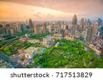 shanghai people's square and... | Shutterstock . vector #717513829