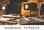 digital recording  broadcasting ... | Shutterstock . vector #717516715