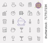 linear drinks icons set.... | Shutterstock .eps vector #717517234